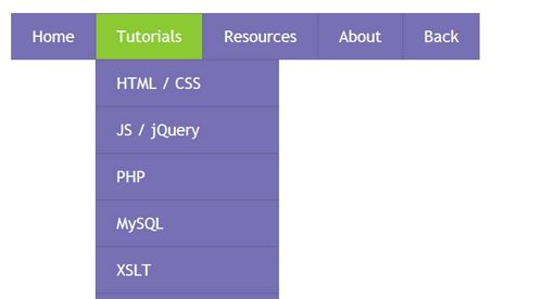 Creating A CSS3 Drop-down Menu #4 - script-tutorials