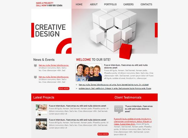 40 Free HTML/CSS Company Templates - XDesigns