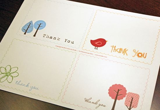 Free Printable Thank You Notes