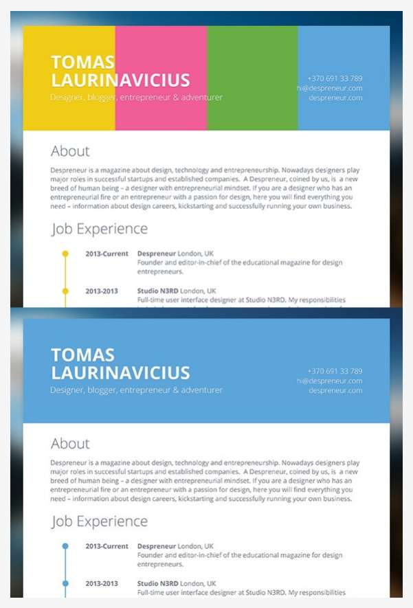 free a4 minimalist resume psd template