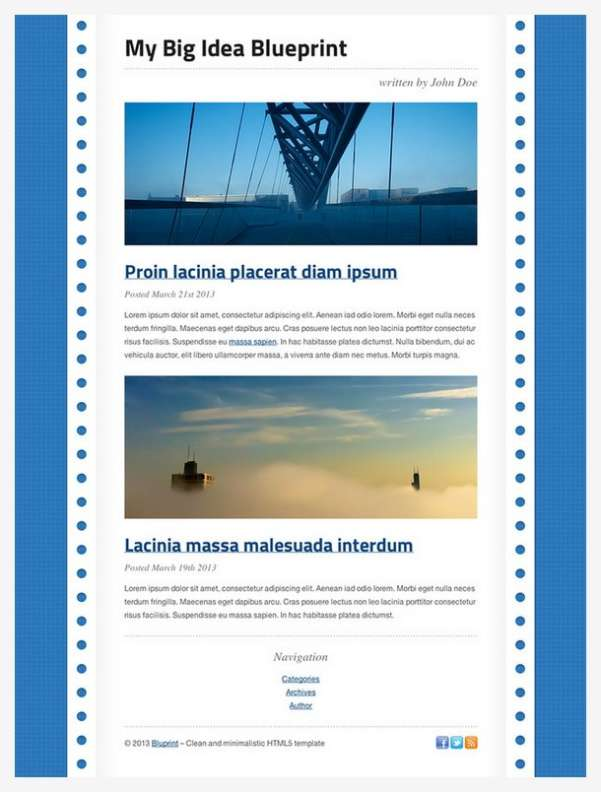 Bluprint simple html5 blog templates for free xdesigns download bluprint website template click here malvernweather Image collections