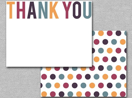 25 Beautiful Printable Thank You Card Templates XDesigns – Printable Thank You Note