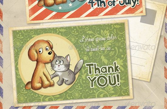 Birthday and Thank You Greeting Cards