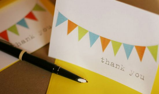 Little thank you card