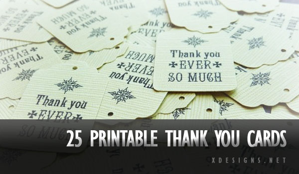 Printable Thank You Card Templates