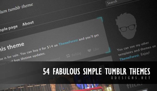 54 Fabulous Simple Tumblr Themes