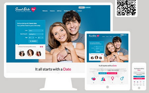 wordpress dating theme responsive