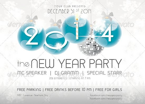 20 Stunning Happy New Year Flyer Print Templates (2014 Edition ...