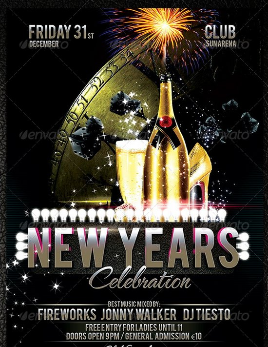 new years flyer template koni polycode co