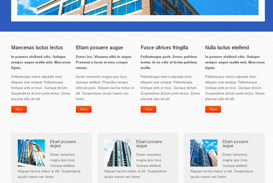 Download Free Skylined HTML5 Website Template
