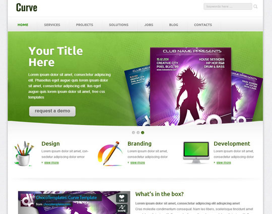 Download Free Curve HTML5 Website Template