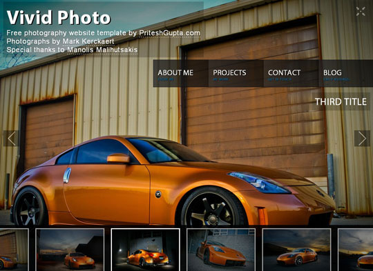 Download Free Vivid Photo HTML5 Website Template
