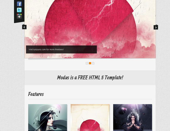 Download Free Modus HTML5 Website Template