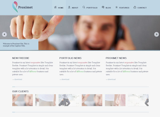 Download Free Proximet HTML5 Website Template