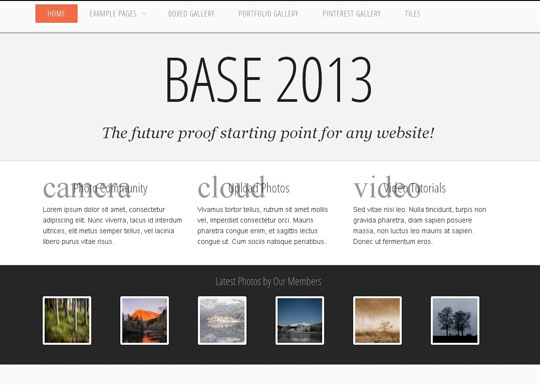 Download Free Base 2013 HTML5 Website Template