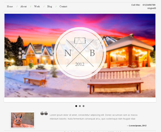 Download Free Portfolio Template HTML5 Website Template