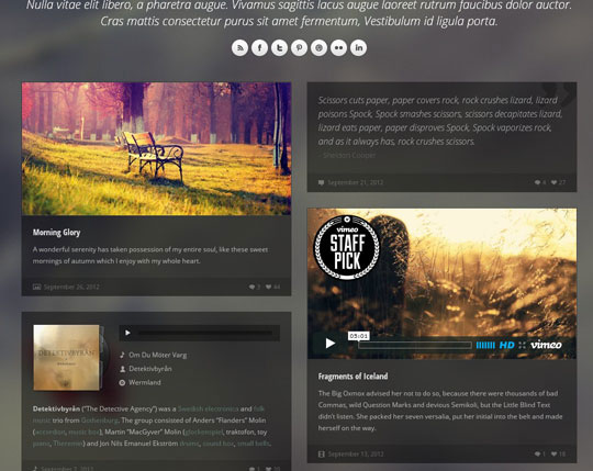 Download Free Obscura HTML5 Website Template