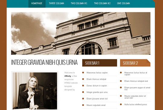 Download Free Affinity HTML5 Website Template