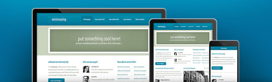 Download Free Minimaxing HTML5 Website Template