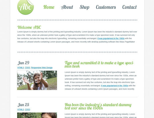Download Free Abc HTML5 Website Template