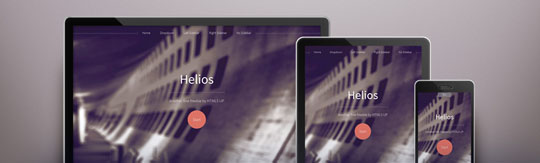 Download Free Helios HTML5 Website Template