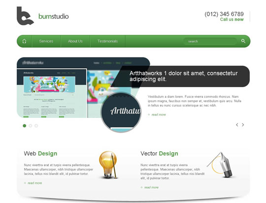 Download Free Burn Studio HTML5 Website Template