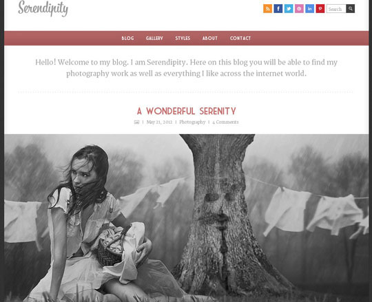 Download Free Serendipity HTML5 Website Template
