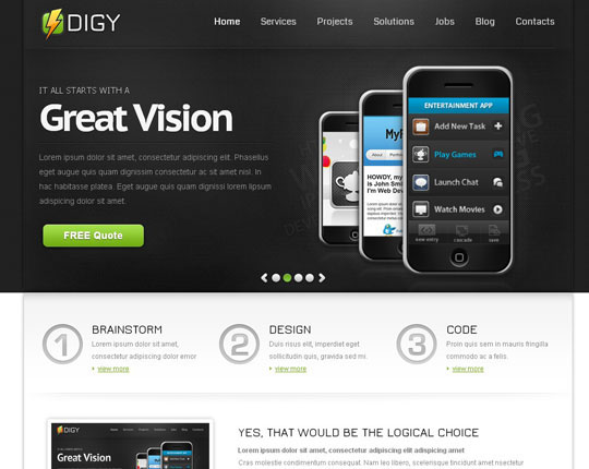 Download Free Digy HTML5 Website Template