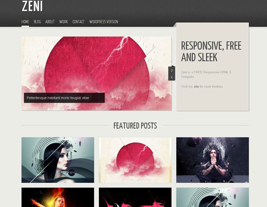 Download Free Zeni HTML5 Website Template
