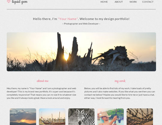 Download Free Liquid Gem HTML5 Website Template