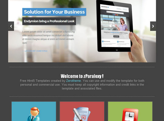 Download Free zParalexy HTML5 Website Template