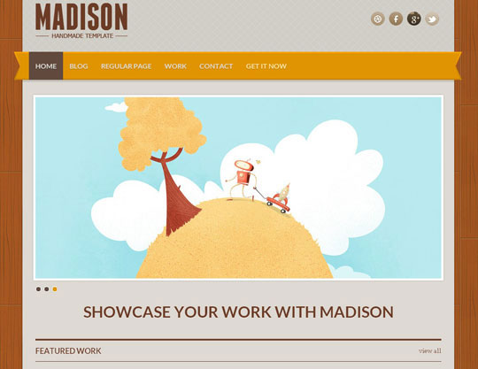 Download Free Madison HTML5 Website Template