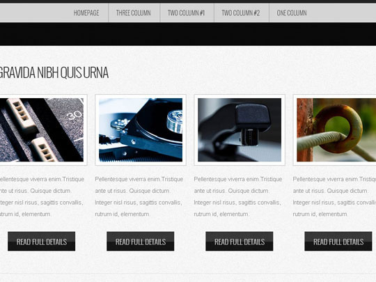Download Free Monochromed HTML5 Website Template