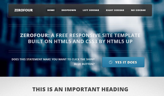 Download Free Zerofour HTML5 Website Template