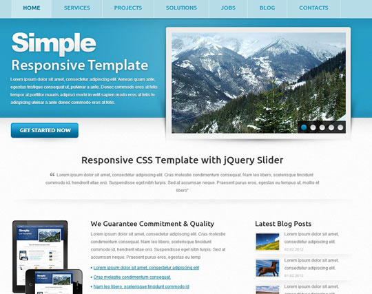 Download Free Simple HTML5 Website Template