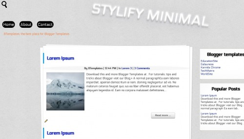 Free Stylify Minimal Responsive Blogger Template