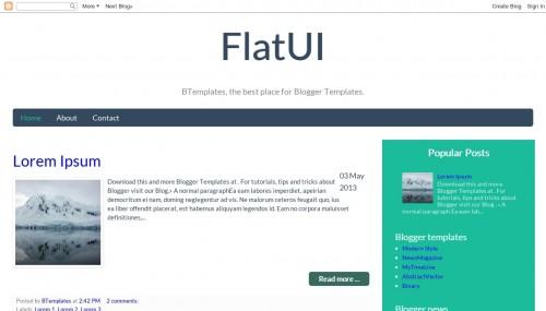 Free FlatUI Responsive Blogger Template