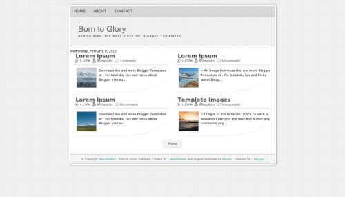 Free Born to Glory Responsive Blogger Template