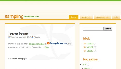 Free Sampling Responsive Blogger Template