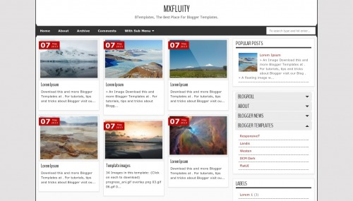 Free MXfluity Responsive Blogger Template