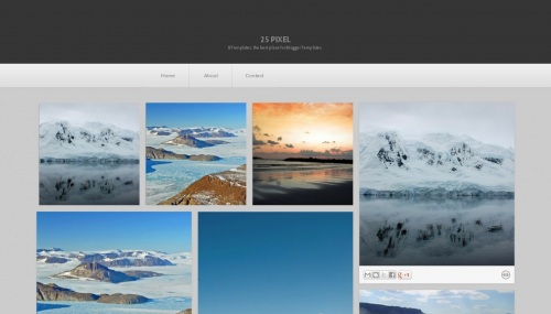 Free 25 pixel Responsive Blogger Template