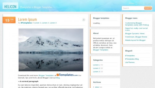 Free Helicon Responsive Blogger Template
