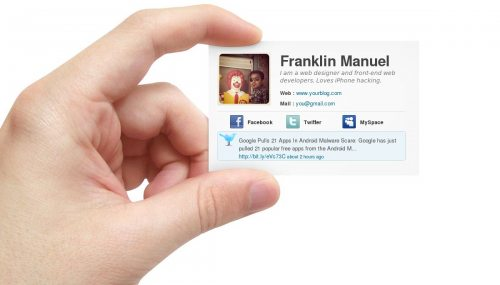 Free E-Business Card Responsive Blogger Template