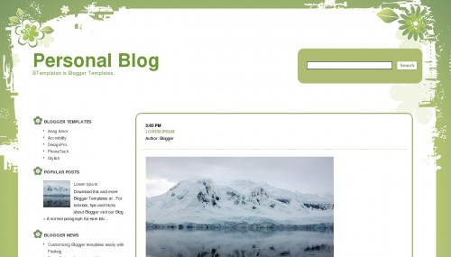 Free Personal Blog Responsive Blogger Template