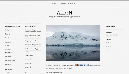 Free Align Responsive Blogger Template