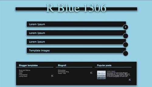 Free R Blue 1306 Responsive Blogger Template