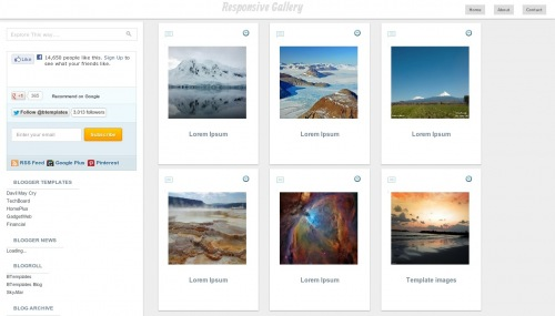 Free Responsive Gallery Responsive Blogger Template