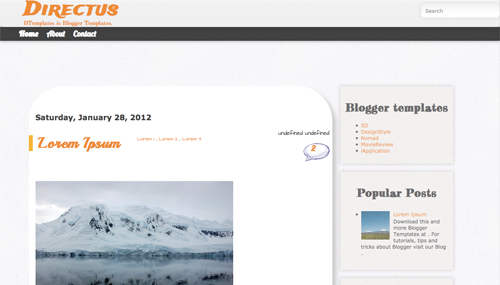 Free Directus Responsive Blogger Template
