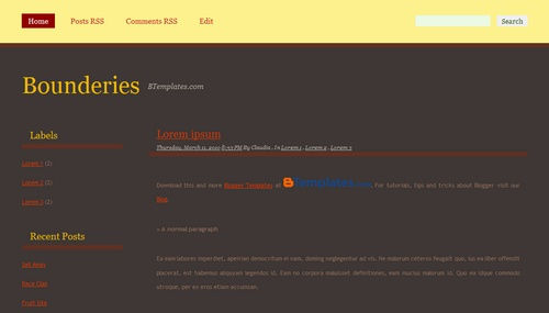 Free Bounderies Responsive Blogger Template