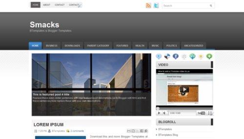 Free Smacks Responsive Blogger Template